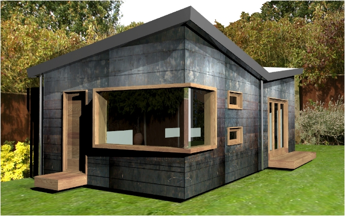 Photographers studio garden room design contemporary for Garden studio uk